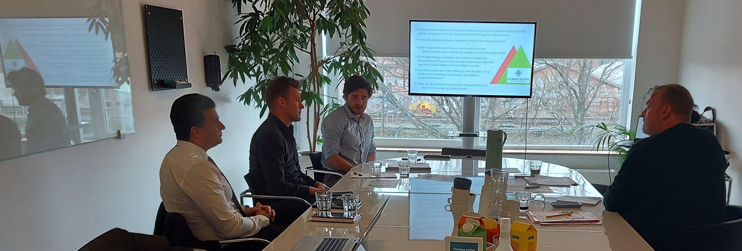 Career Guidance & Emotional Intelligence Training for Prison Service Employees Workshop with representatives from the Danish Prison Federation (Fængselsforbundet)